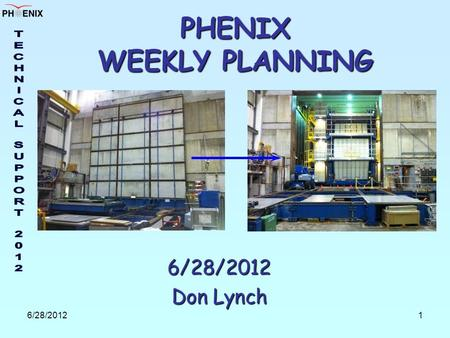 6/28/20121 PHENIX WEEKLY PLANNING 6/28/2012 Don Lynch.