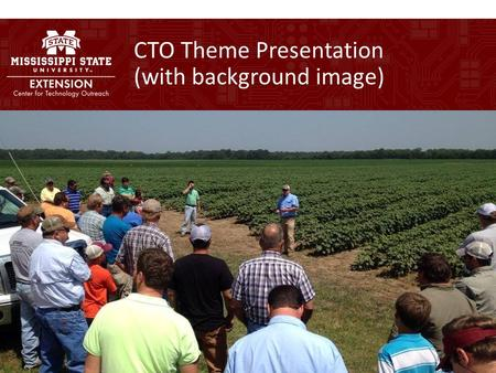 CTO Theme Presentation (with background image). CTO Theme Presentation (no background image)