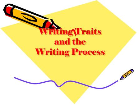 Writing Traits and the Writing Process. Writing Process Prewriting Drafting Sharing Revising Editing Finishing/ Publishing Writing Traits Ideal Organization.