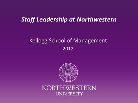 Northwestern / Kellogg Essay Topics 2012-2013