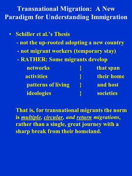 immigration thesis essay