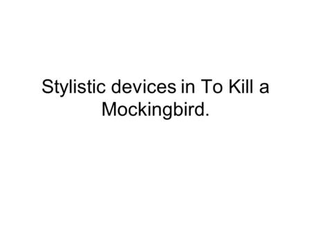 Allusions in To Kill a Mockingbird