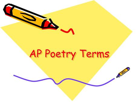 AP Poetry Terms.
