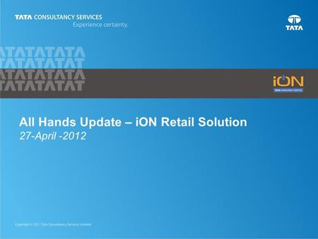 All Hands Update – iON Retail Solution 27-April -2012.