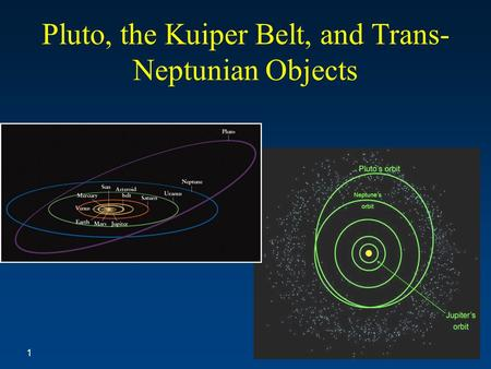 Pluto, the Kuiper Belt, and Trans- Neptunian Objects 1.