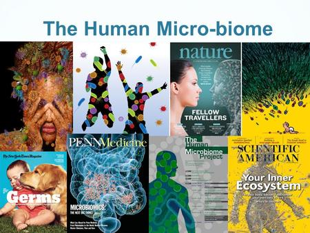 The Human Micro-biome. What is the Human Microbiome Microbial communities exist in many places such as in the soil, in the ocean and in every plant and.