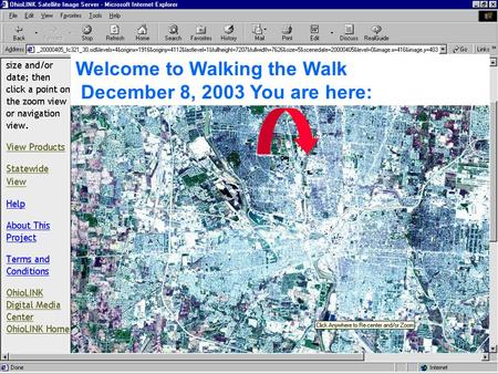 Welcome to Walking the Walk December 8, 2003 You are here: