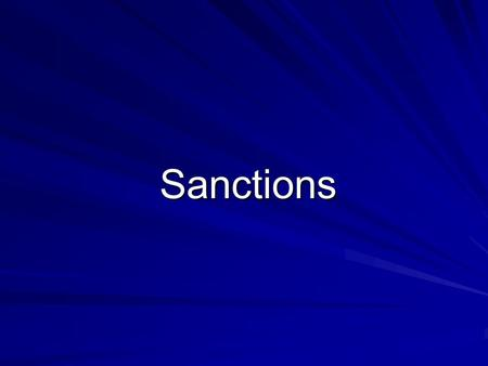 Sanctions. Most norms are followed automatically, but some are motivated by… Sanctions – –rewards or punishments used to enforce conformity to norms.