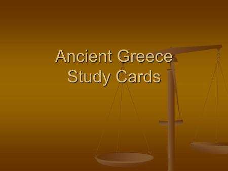Ancient Greece Study Cards. What is the word for the territories of Ancient Greece?