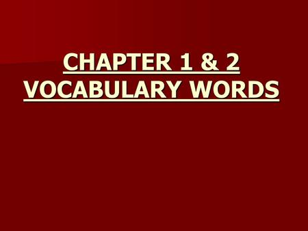 CHAPTER 1 & 2 VOCABULARY WORDS. Endorsement A code used on a basic license when you have obtained a license to drive a different type of vehicle.