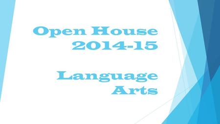 Open House 2014-15 Language Arts. Course Overview  Lenovo Laptops and Digital 6  Each student will have access in class to a laptop where we will be.