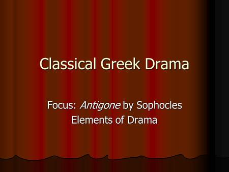 thesis statement antigone sophocles