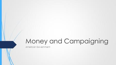Money and Campaigning American Government. FEC  In 1974 Congress passed the Federal Election Campaign Act  This act was passed in response to illegal.
