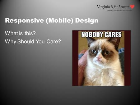 Responsive (Mobile) Design What is this? Why Should You Care?