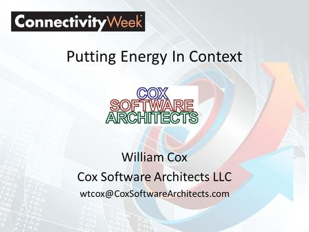 Putting Energy In Context William Cox Cox Software Architects LLC