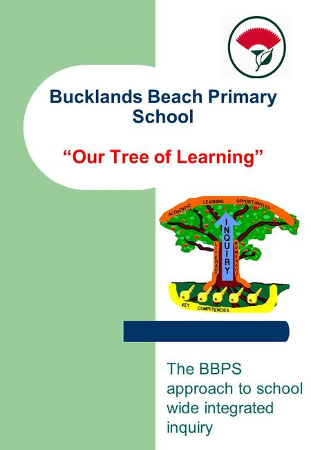 "Bucklands Beach Primary School ""Our Tree of Learning"" The BBPS approach to school wide integrated inquiry."