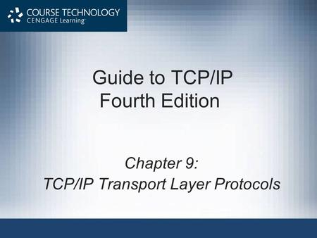 Guide to TCP/IP Fourth Edition