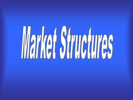 A market structure is the nature and degree of competition among the firms operating in the same industry. There are four different market structures….
