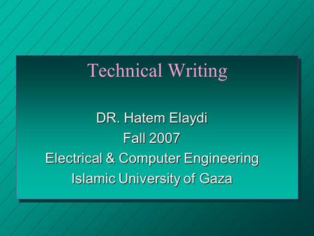 technical scientific writing Writing for science technical terms in most scientific writing you will need to use some scientific or technical terms in order to be clear and unambiguous.