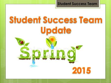 Student Success Team. Core Team Work Team Student Success Team.