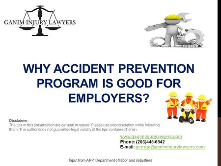 WHY ACCIDENT PREVENTION PROGRAM IS GOOD FOR EMPLOYERS?  Phone: (203)445-6542