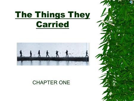 the things they carried psychological loss Post-traumatic stress disorder in in tim o'brien's the things they carried soldiers on the psychological and physical effects of.
