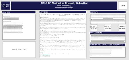 TITLE OF Abstract as Originally Submitted LIST AUTHOR(s) Author Affiliation/Company Xxxxxxxxxxxxxxx  xxxxxxxxxxxxxxxxxxxxxxxxxxxxxxx Xxxxxxxxxxxxxxxx.