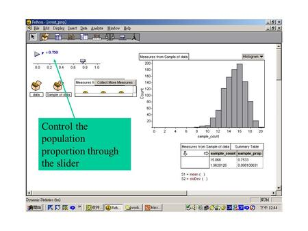 Control the population proportion through the slider.