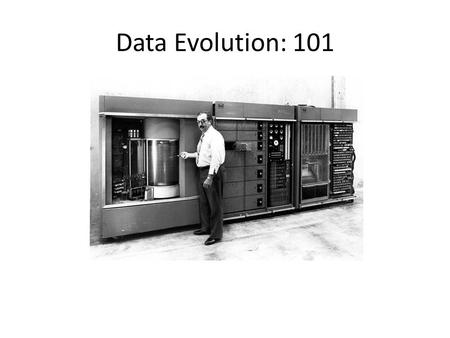 Data Evolution: 101. Parallel Filesystem vs Object Stores Amazon S3 CIFS NFS.