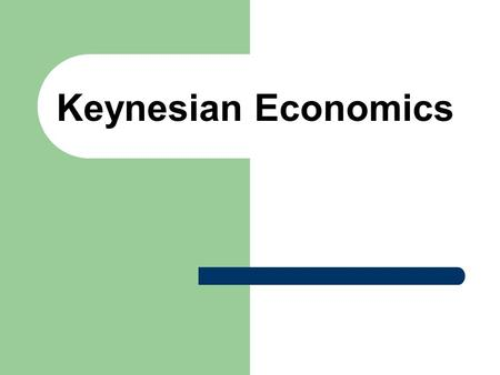 Keynesian Economics. Flow of the Economy SPENDING b y four groups INCOME received by people PRODUCTION by firms.