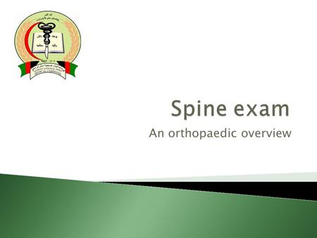 An orthopaedic overview