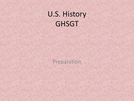 U.S. History GHSGT Preparation. SSUSH 1 Virginia Company Joint-Stock company that established Jamestown.