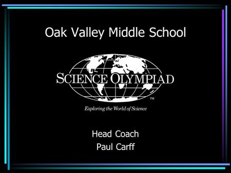 Oak Valley Middle School Head Coach Paul Carff. Who has done this before?