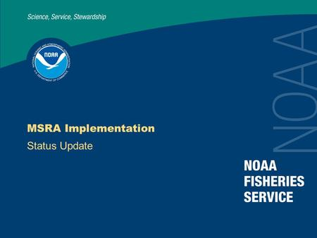 MSRA Implementation Status Update. 2 Implementation Strategy Divide tasks Priority 1 – Due date specified in the Act Priority 2 – Required, but no due.