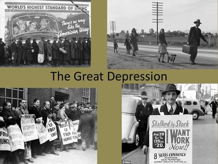 The Great Depression. Post War Declining Economy Post War = Large Debt and Not Enough Jobs Low Pay Workers Demand Higher Pay and Shorter Hours Labor Unions.