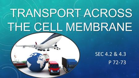 TRANSPORT ACROSS THE CELL MEMBRANE SEC 4.2 & 4.3 P 72-73.