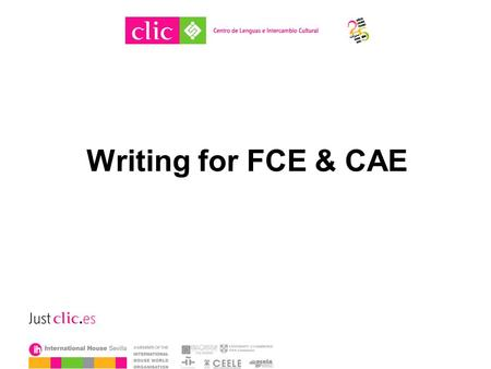 Writing for FCE & CAE. Writing in exam classes How do your Ss feel about it? How do you feel about it? Do you do most writing in or out of class? What.