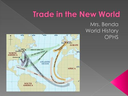 " As the world starts to trade (goods and ideas)more we are slowly approaching modern day.  America is now entering into picture earning the title; ""New."