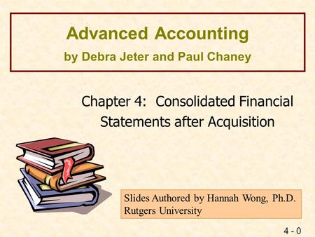 advanced accounting consolidation example Consolidation of financial statements is one of the most complex topics in all of financial accounting however, the basic process is quite straightforward subsidiary revenues and expenses.