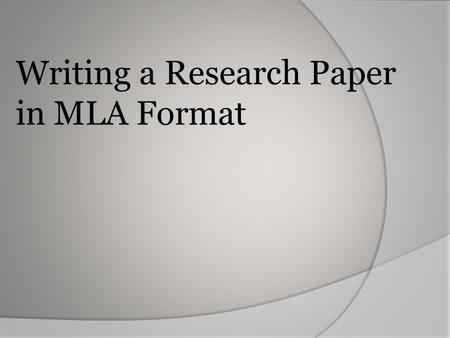 Writing a Research Paper in MLA Format. Double Space Font: Times New Roman, size 12 Leave only one space after punctuation Create a header that numbers.