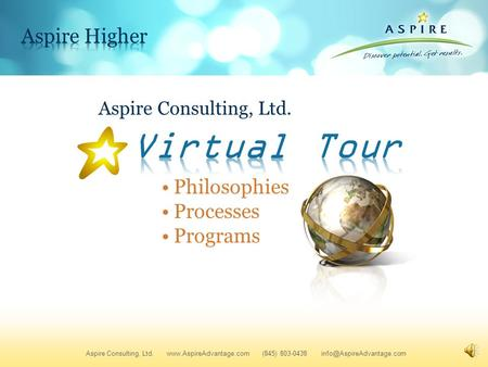 Aspire Consulting, Ltd. Aspire Consulting, Ltd.  (845) 803-0438 Philosophies Processes Programs.
