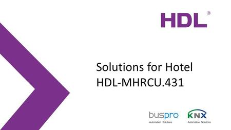 Solutions for Hotel HDL-MHRCU.431.