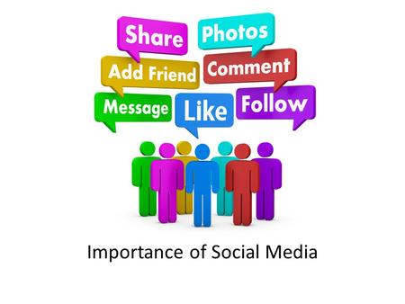 Importance of Social Media. Why Social Media Social Media now permeates every aspect of society and our lives. – Connect w/Family and Friends – Learn.