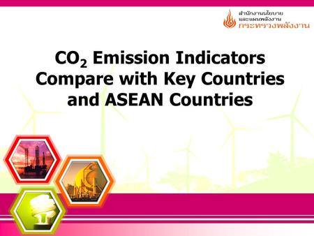 CO 2 Emission Indicators Compare with Key Countries and ASEAN Countries.