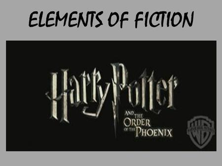 ELEMENTS OF FICTION. The people, animals or imaginary creatures that the story's action revolves around. Usually one central character. Two types of characters.