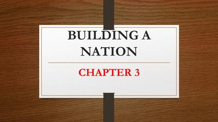 "BUILDING A NATION CHAPTER 3. Changes in Government (a little bit ""new""; a little bit ""review"") Although the 1837 rebellions in the Canadas failed, these."