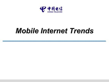 Mobile Internet Trends. 2 Mobile 3.0 Service Social Sensor - Online free service - HTML5 web service -Monthly fee service - Application socialization.