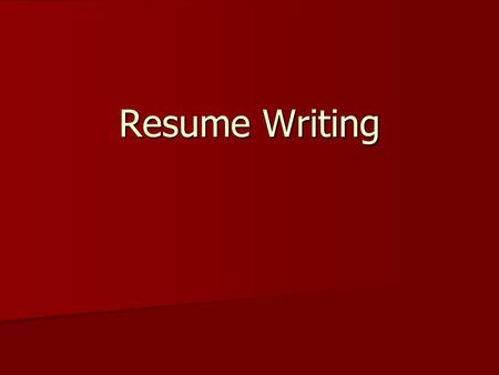 Resume Writing. Organizing Your Resume A resume is a concise summary of an applicant's qualifications for employment A resume is a concise summary of.