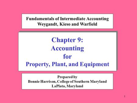 1 Chapter 9: Accounting for Property, Plant, and Equipment Chapter 9: Accounting for Property, Plant, and Equipment Fundamentals of Intermediate Accounting.