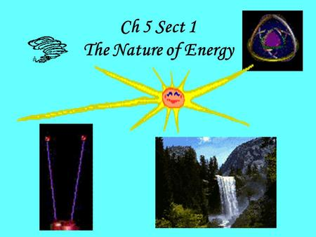 Ch 5 Sect 1 The Nature of Energy. Chapter 5 Section 1 – What You'll Learn Before you read - write the reading's objectives in this space: 1 – _________________________________________________________________________________.